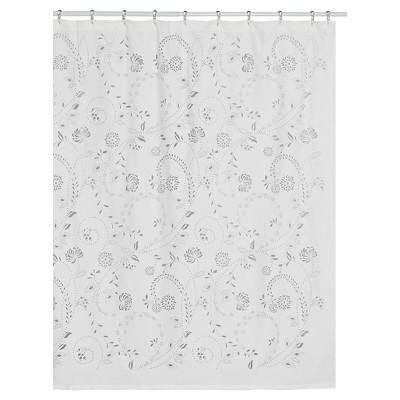 eyelet 100 polyester shower curtain white creative bath