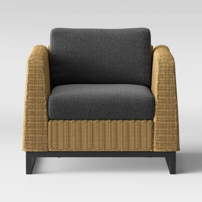 niels wicker patio club chair black project 62