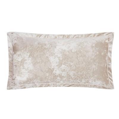 32x16 melange velvet bolster pillow pink charisma