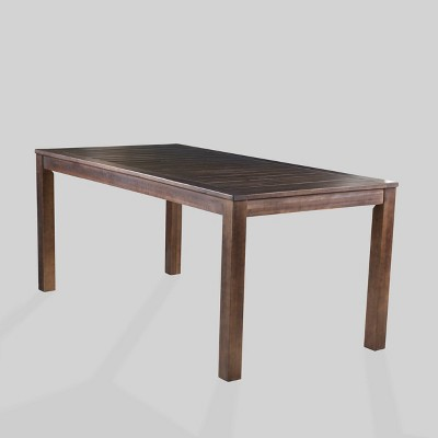 manila rectangle acacia wood dining table dark brown christopher knight home