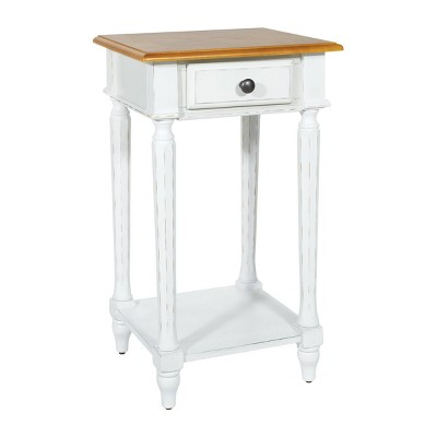 medford side table distressed white osp home furnishings
