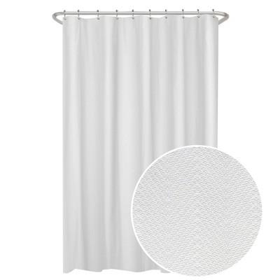 herringbone ultimate shower liner white zenna home