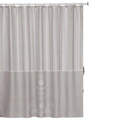 royal hotel shower curtain taupe creative bath