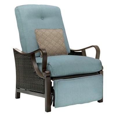 hanover outdoor ventura luxury recliner ocean blue