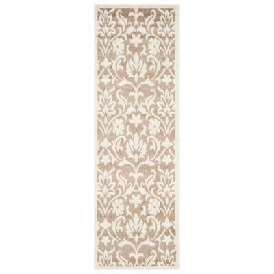 2 x7 runner rectangle amherst outdoor patio rug wheat beige safavieh