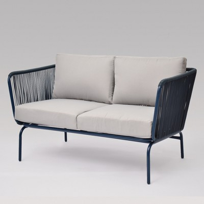 fisher patio loveseat blue project 62