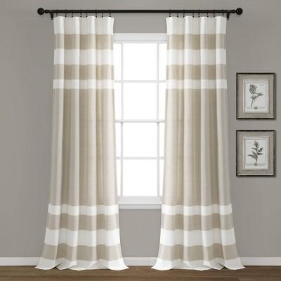 cape cod stripe yarn dyed cotton shower curtain gray white lush decor