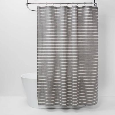 stripe shower curtain radiant gray threshold