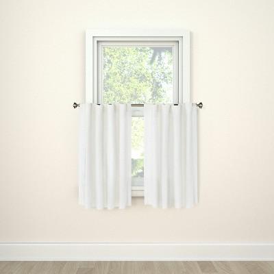 36 x42 curtain tier honeycomb white threshold