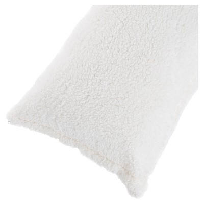soft sherpa body pillow cover 52 x18 white yorkshire home