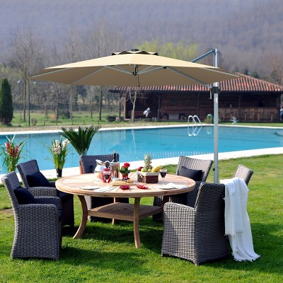 11 patio cantilever offset umbrella 360 degrees rotation aluminum tilt