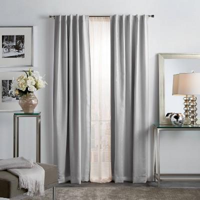 set of 2 84 x37 park avenue metallic blackout curtain panels silver martha stewart