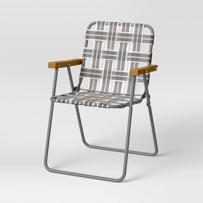 folding patio webstrap chair gray room essentials