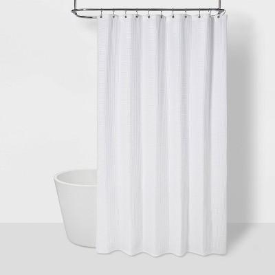 72 x84 waffle weave shower curtain white threshold