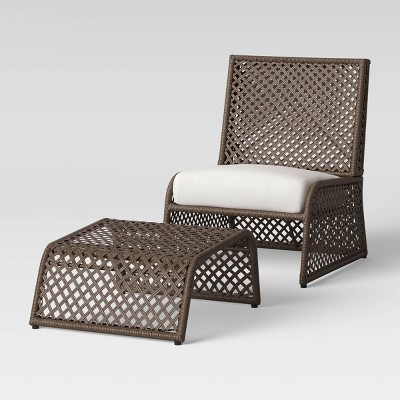 2pc byler woven patio chair ottoman set project 62