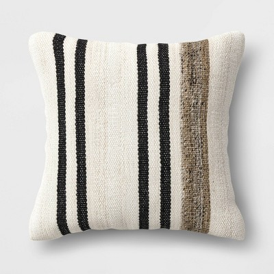 20 square outdoor throw pillow marled stripe threshold designed with studio mcgee