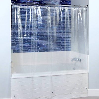 extra wide shower curtain liner with microban clear slipx solutions