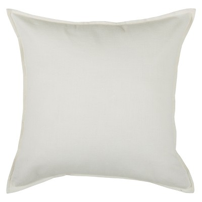 20 x20 oversize solid square throw pillow ivory rizzy home