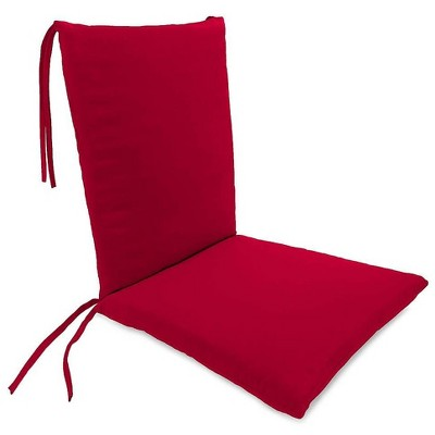 plow hearth polyester classic outdoor rocking chair cushions with ties barn red