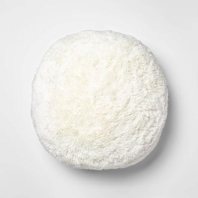 faux fur floor pillow cream pillowfort