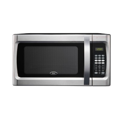 oster 1 3 cu ft 1100 watt microwave oven stainless steel ogzf1301