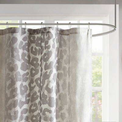 leopard print shower curtain target