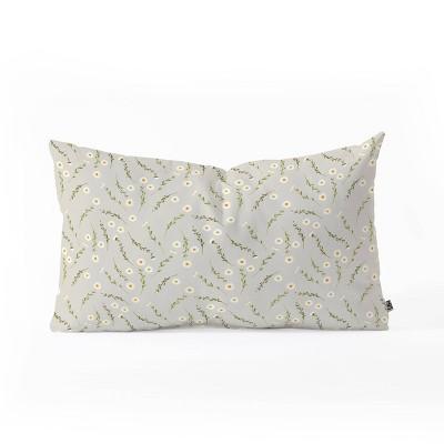 iveta abolina daisy meadow oblong throw pillow deny designs