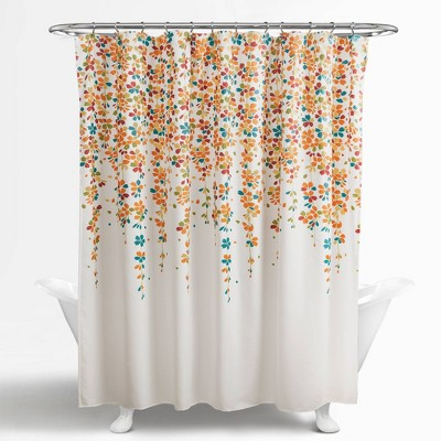 weeping flower shower curtain turquoise lush decor