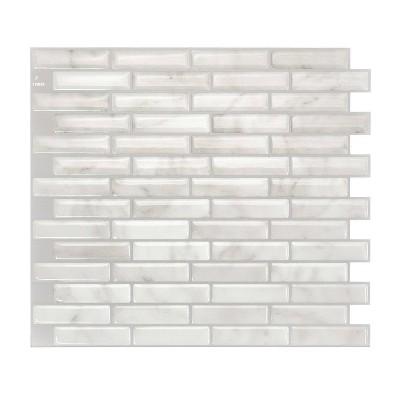 smart tiles 3d peel and stick backsplash 4 sheets of 10 20 x 9 kitchen and bathroom wallpaper milenza bari