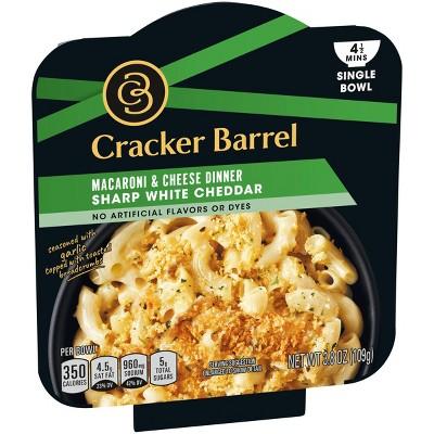cracker barrel single bowl mac cheese white cheddar 3 8oz
