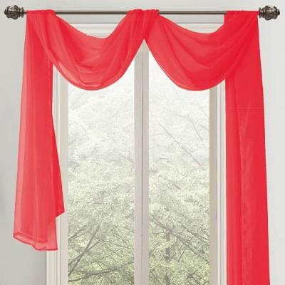 ramallah trading celine sheer curtain scarf 55 x 216 red