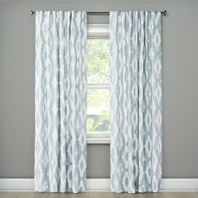 108 x54 light filtering curtain panel summer blue project 62