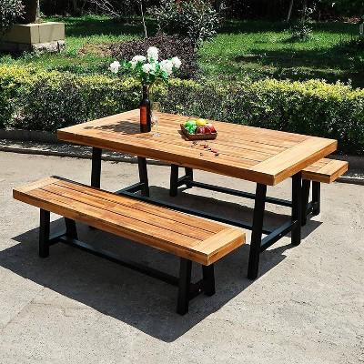 teak weatherproof patio furniture target