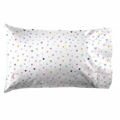 saturday park triangles pillow case 20x30 multi