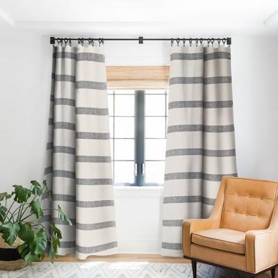 holli zollinger dhurban stripe 64 x 50 single panel blackout window curtain deny designs