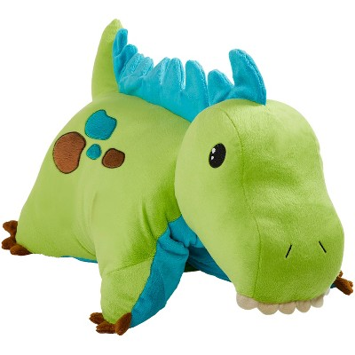 green dinosaur plush pillow pets