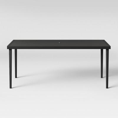 fairmont rectangle steel patio dining table black threshold
