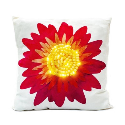 ultimate innovations 2pk indoor outdoor decorative throw pillows daisy