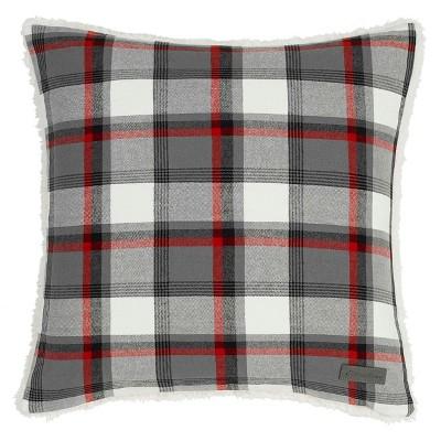 wallace plaid throw pillow gray eddie bauer