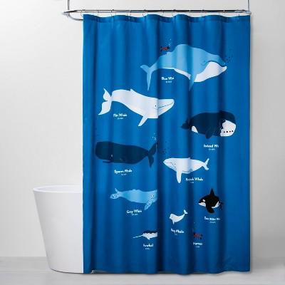 whales shower curtain pillowfort
