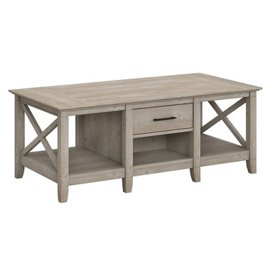 key west coffee table with storage washed gray bush furniture