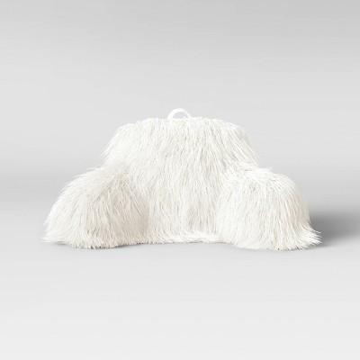 faux fur bed rest pillow cream opalhouse