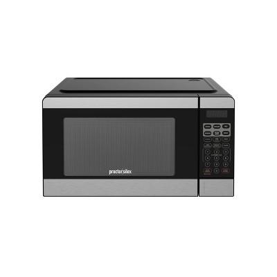 proctor silex 0 7 cu ft microwave oven silver