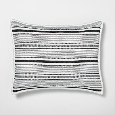 standard textured stripe pillow sham railroad gray hearth hand with magnolia