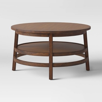 haverhill wood round coffee table weathered brown threshold