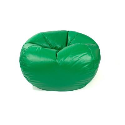 medium vinyl bean bag chair green gold medal