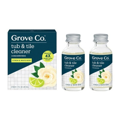 grove co tub tile cleaner concentrates citron white rose 2pk