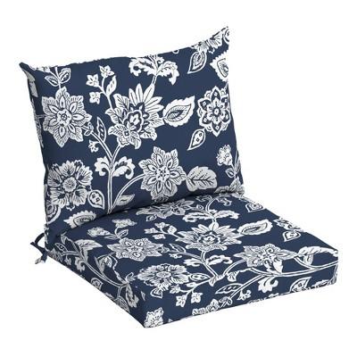 arden selections outdoor dining chair cushion set sapphire ashland jacobean