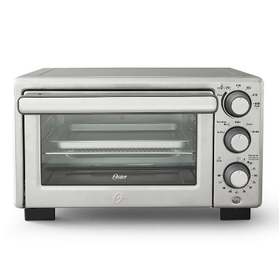 oster compact countertop oven with air fryer stainless steel