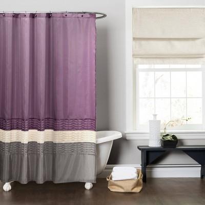 mia shower curtain purple gray lush decor